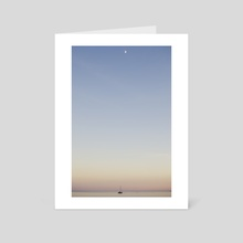Moon moves the sea. - Art Card by Noèlia Andrés