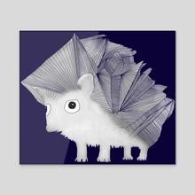 Hedgehog - Acrylic by Brontosaurus Art