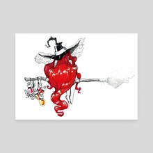 Witch!!! - Canvas by Anna Ivanova