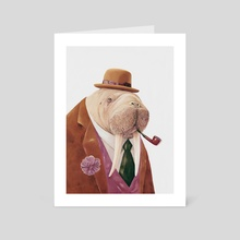 Walrus - Art Card by Animal Crew