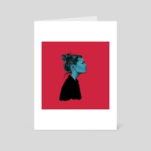 Blue girl - Art Card by Pedro Sousa