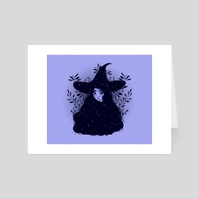 Witch Drawing - Art Card by Sarah ☾