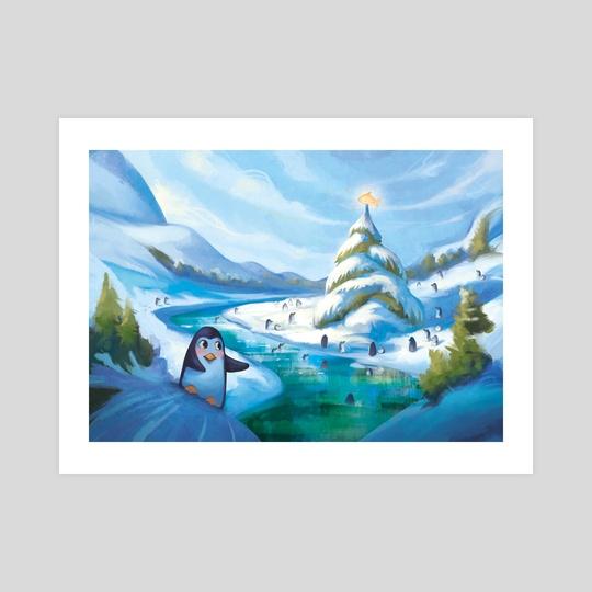 Penguin Season's Greetings by Johanna Rupprecht