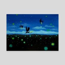 Fire Dance - Canvas by Carlos Aleman