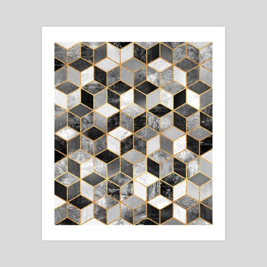 Black and white cubes by Elisabeth Fredriksson