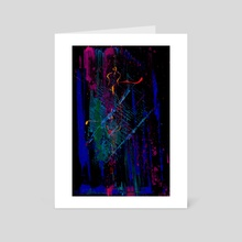 STP Screen Transfer Process - 0032 - Misfortune of Reincarnation - Art Card by Wetdryvac WDV