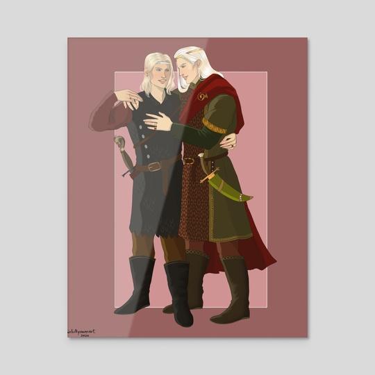 Prince Aemon and Prince Baelon by chillyravenart