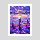 Purple Skies - Art Print by Luis Sierra