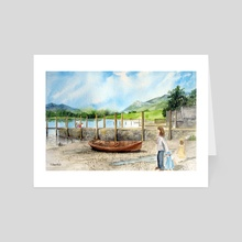 Day out at Derwent Water - Art Card by Farida Greenfield
