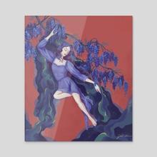 Wisteria - Acrylic by ArtByGdai
