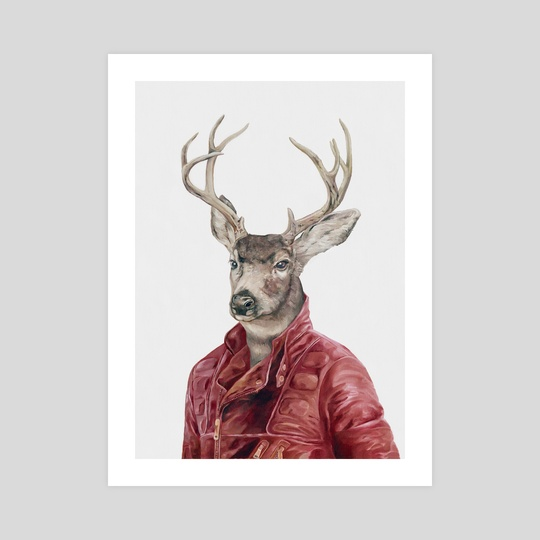 Deer In Red Leather by Animal Crew