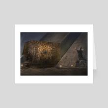 Egyptian Level Design  - Art Card by Andrea Saavedra