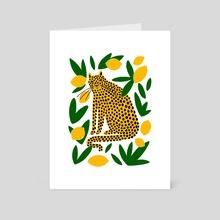 Lemon Leopard  - Art Card by Katie Pelikan