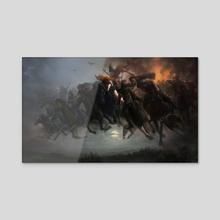Wild Hunt - Acrylic by Bryan Fogaça Rosado