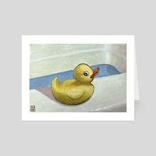Bathtime Buddy - Art Card by Anne Pennypacker