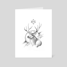 Deer - Art Card by Ioanna Kolokotroni