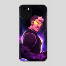 Kuron - Space background - Phone Case by Viera Boudreau