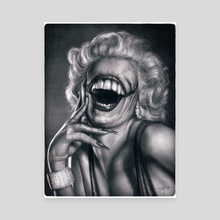 Marilyn's Smile - Canvas by Rodger Pister