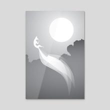 Kitsune II - Acrylic by Alex Grund