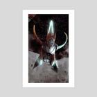 Deoxys Speed Mode - Art Print by Abel Vera