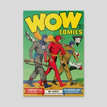 Wow Comics Edition #08 - Acrylic by Luc Playoust