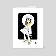 Night - Digital Ink - Art Card by Kev Cabrera
