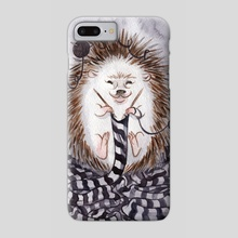 Knitting Hedgehog - Phone Case by Dylan Meconis