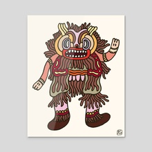 Olmeca Monster of the day (June 6) [Year 1] - Acrylic by Royal Glamsters