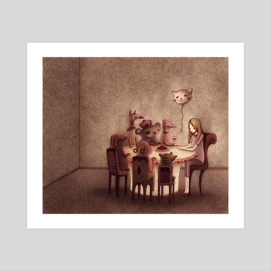 Interior Scene I by Steph Kunze