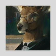 Deer Portrait - Canvas by Nomax