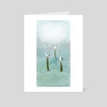 Rivergulls - Art Card by Kimmy Ramone