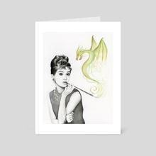 Audrey and Dragon - Art Card by Olga Shvartsur