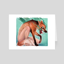Manned Human Wolf - Art Card by Jarhn Manning