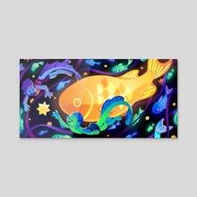 Starry Seas - Acrylic by Anush Banush