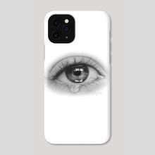 Eye Tear Drawing - Phone Case by Emmy Kalia