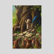 Mice Resistance - Canvas by Kate Kazartseva