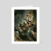 Barbarian - Art Card by Jean-Sebastien Rossbach