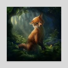 Happy when it rains (Fox) - Canvas by Marie Beschorner