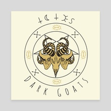 ⍖ Totes Dark Goats ⍖ - Canvas by zombiemongai