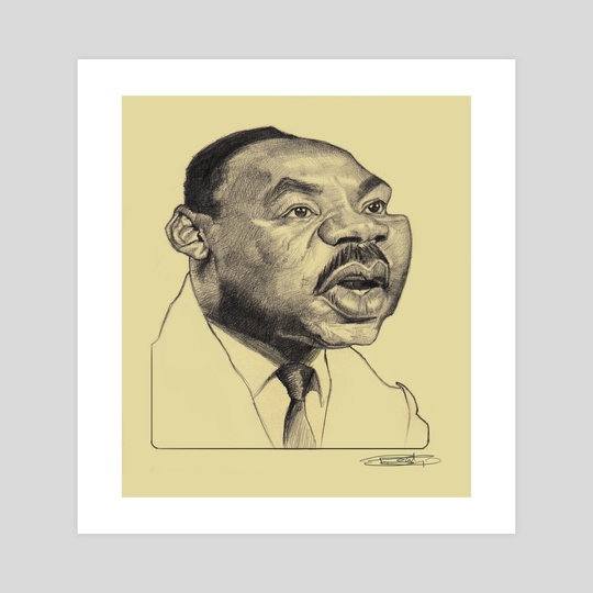 Martin Luther King Jr by Priyatham Sri