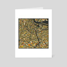 Amsterdam Map 2 - Art Card by Jazzberry Blue