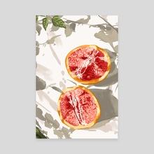 Grapefruit Kinda Zest For Life - Canvas by 83 Oranges
