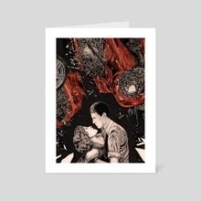 Many Deaths - Art Card by Zach Meyer