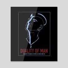 DUALITY OF MAN - Acrylic by Steven McCracken