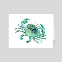 Turquoise Space Cancer - Art Card by Sebastian Grafmann
