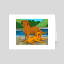 Goldens - Art Card by Nicole West