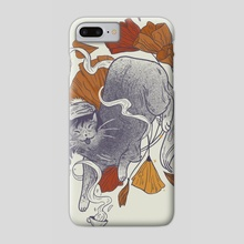 Autumn kitty - Phone Case by Martina Fischmeister