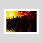 Futuristic City - Art Print by Bruce Rolff