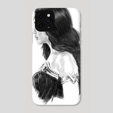 Wonder Woman Gal Gadot - Phone Case by Michael DeNicola