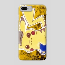 Pokemon Detective Pikachu Movie Cute Kawaii Anime Fan Art - Phone Case by Bridget Garofalo